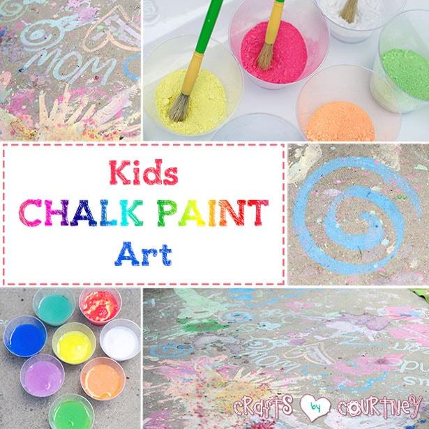 Kids craft: Make your own sidewalk chalk paint