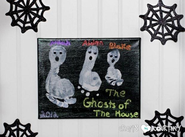 Halloween Craft: Ghost Footprint Craft