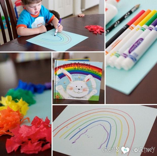Tissue Paper Rainbow: Prepare Your Materials