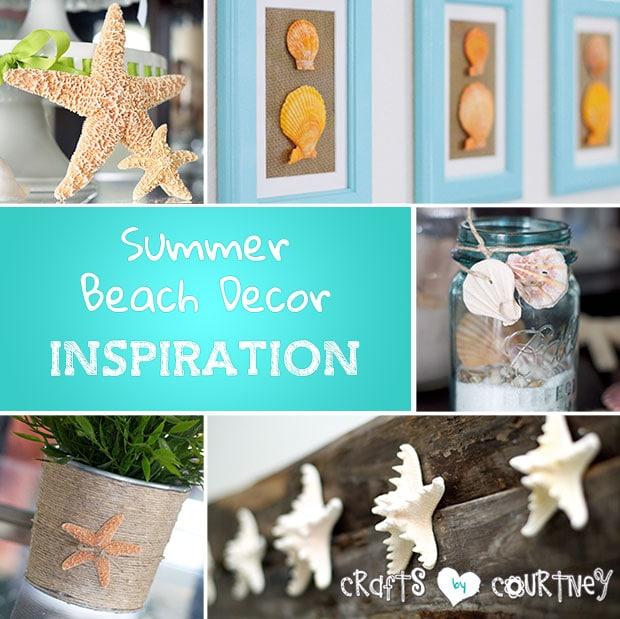 Summer beach decor inspiration