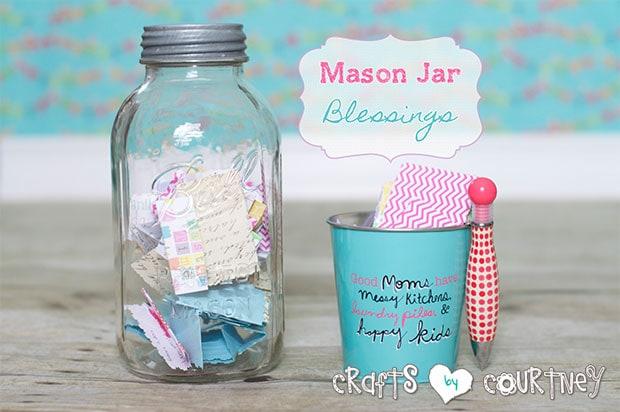Mason jar decorating idea: Mason jar blessings