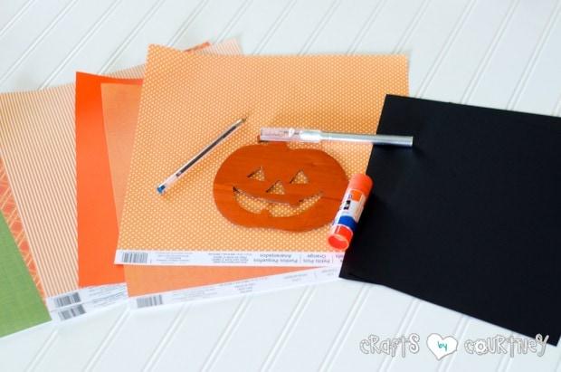 Halloween Craft: Scrapbook Paper Pumpkin Silhouette Craft: Getting Started