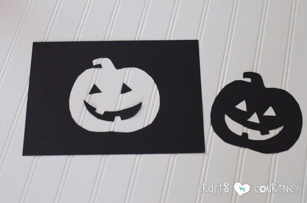 Halloween Craft: Scrapbook Paper Pumpkin Silhouette Craft: Cut Out Your Pumpkin