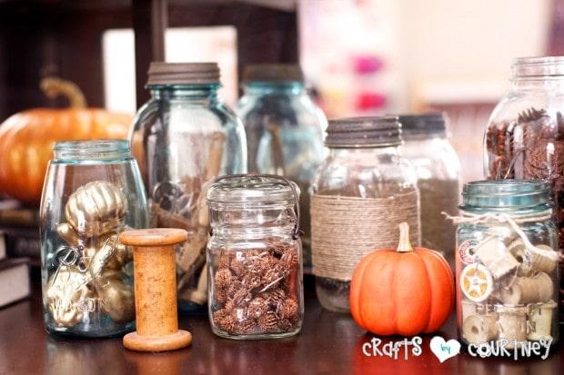 Fall Home Decor Inspiration: Fall Mason Jar Ideas