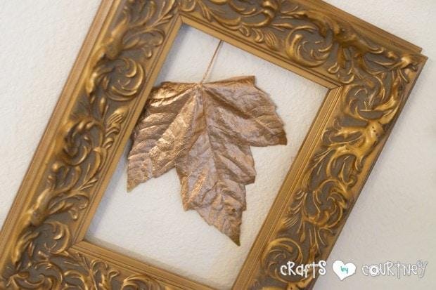 Fall Home Decor Inspiration: Front Enterance: Framed Golden Leaf