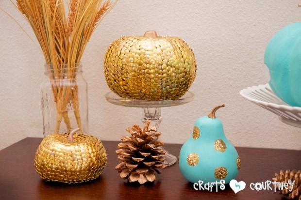 Fall Home Decor Inspiration: Front Enterance: Pumpkin Crafts