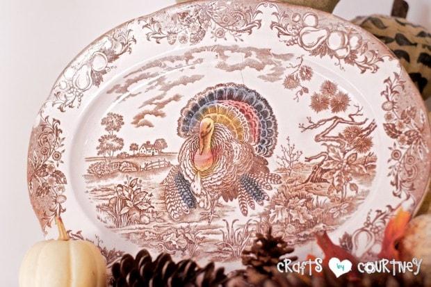 Fall Home Decor Inspiration: Thrift Store Thanksgiving Platter
