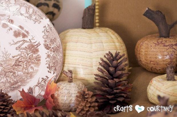 Fall Home Decor Inspiration: Pumpkin Craft