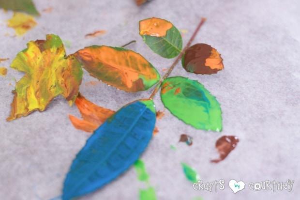 Fun Fall Leaf Stamping Art