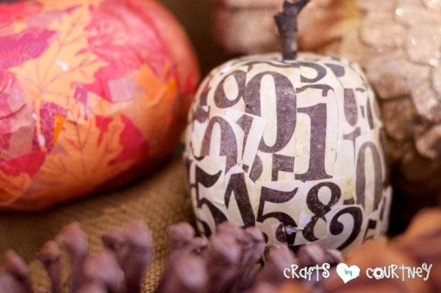 Fall Home Decor Inspiration: Scrapbook Paper Pumpkin Craft
