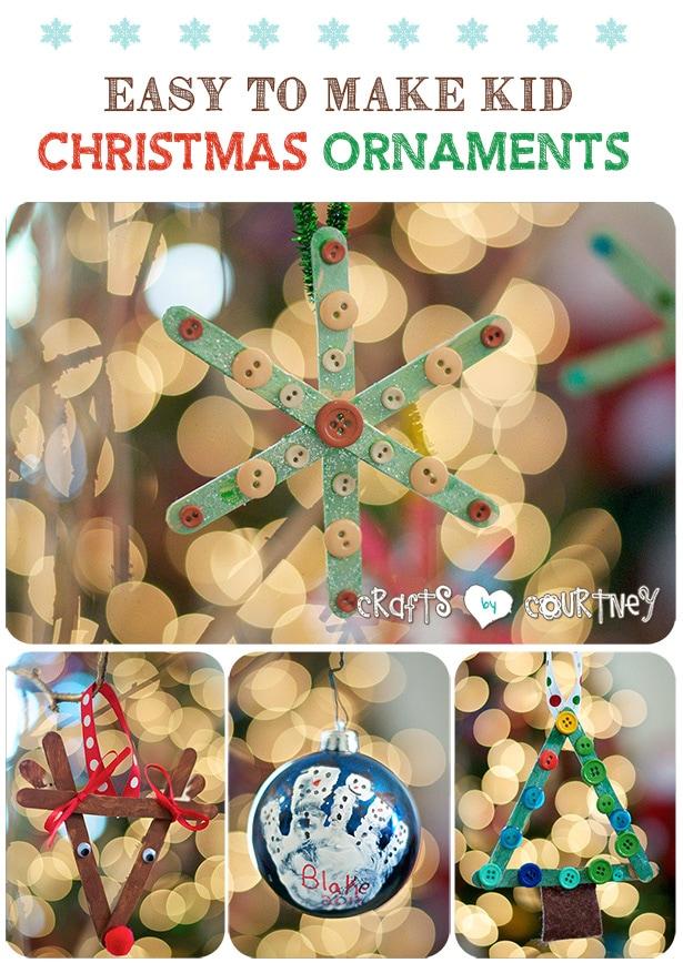 Easy to make diy kid christmas ornaments
