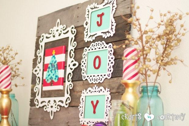 Christmas Home Decor Inspiration: JOY Christmas Craft