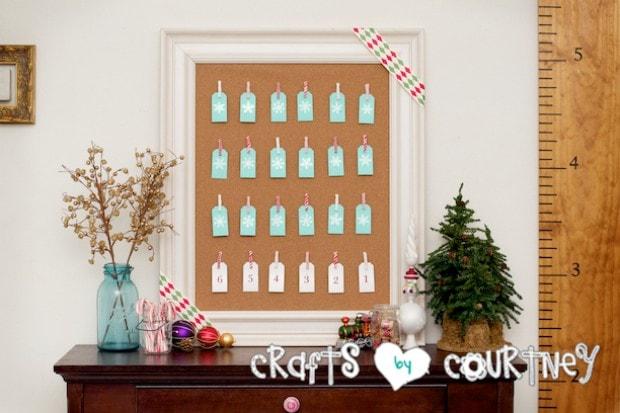 Christmas Home Decor Inspiration: Advent Calendar Count Down