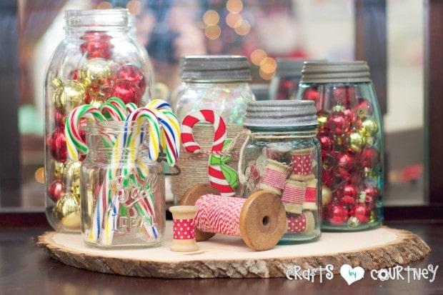 Christmas Home Decor Inspiration: Chrismas Mason Jar Ideas