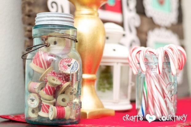 Christmas Home Decor Inspiration: Mason jar ideas with Washi Tape