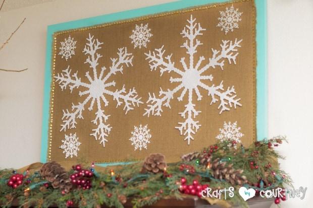 Christmas Home Decor Inspiration: Dollar Tree Snowflake Makeover