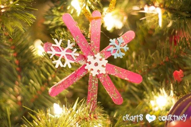 Christmas Home Decor Inspiration: Snowflake Craft