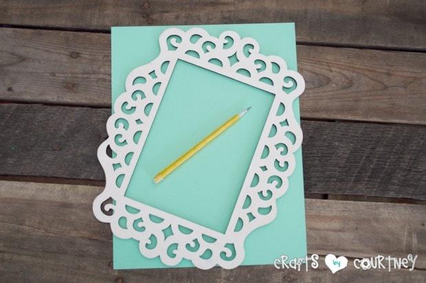 Framed JOY Christmas Decor Letter Art: Trace Your Cardstock