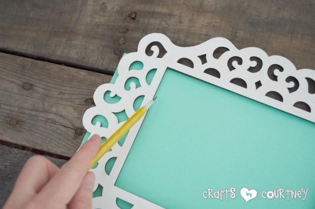 Framed JOY Christmas Decor Letter Art:  Tracing Your Cardstock