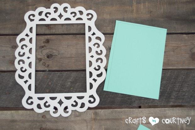 Framed JOY Christmas Decor Letter Art: Cut Out Your Cardstock
