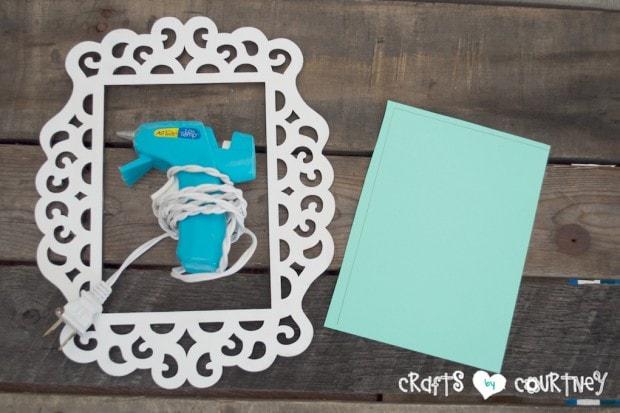 Framed JOY Christmas Decor Letter Art: Add Your Hot Glue