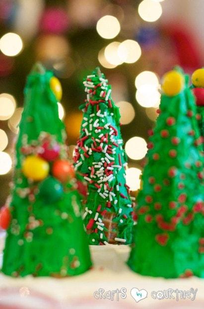Kids Christmas Craft: Fun and Edible Christmas Trees With Your Kids