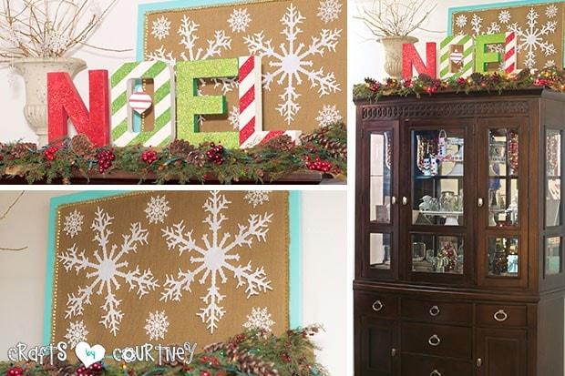 Christmas Home Decor Inspiration: China Cabinet