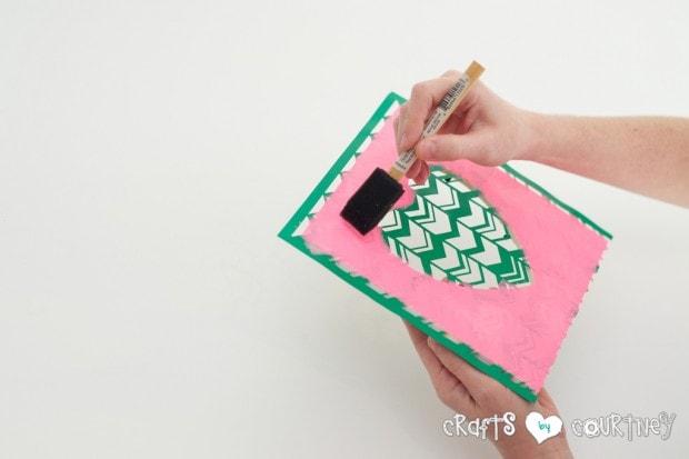 Stenciled Valentine Heart Frames:  Paint Your Stencil