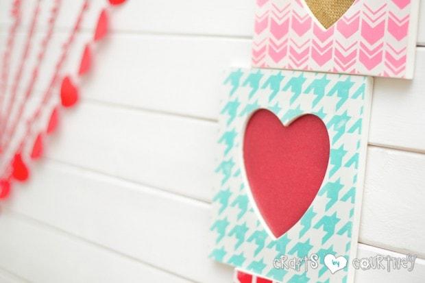 Stenciled Valentine Heart Frames: Silhouette Craft