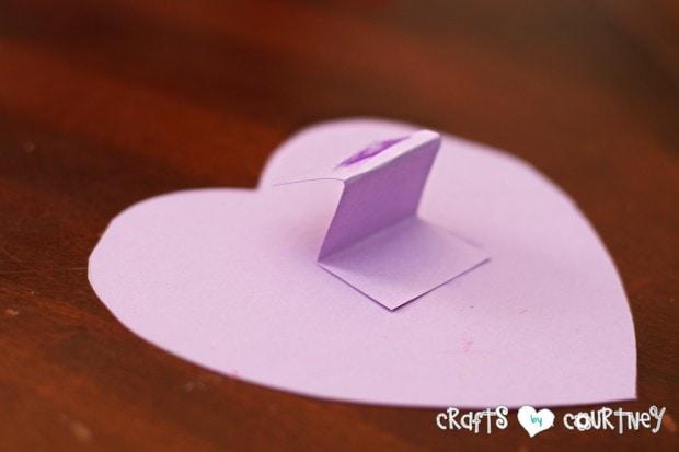 Scrapbook Paper Valentine Heart Card for Kids