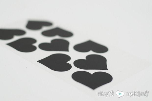 Valentine Storage Jars: Chalkboard hearts