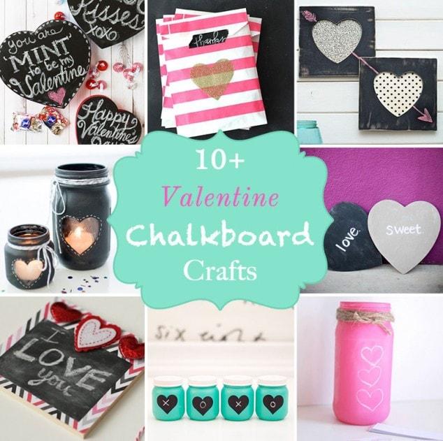 10+ Valentine chalkboard crafts
