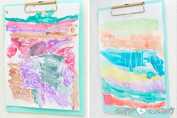 Watercolor resist Art for Kids