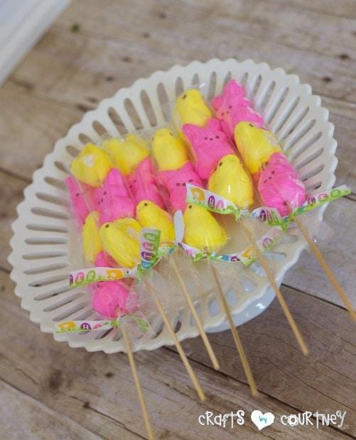 Easter Party Favors: Peeps Easter Kebabs
