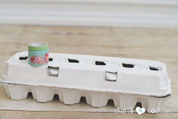 DIY Decorative Easter Egg Cartons: Add Washi Tape
