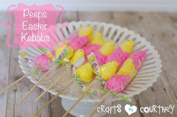 Easy-to Make Peeps Easter Kebabs