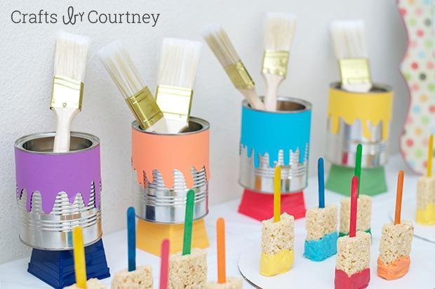 Easy DIY Kids Art Themed Birthday Party