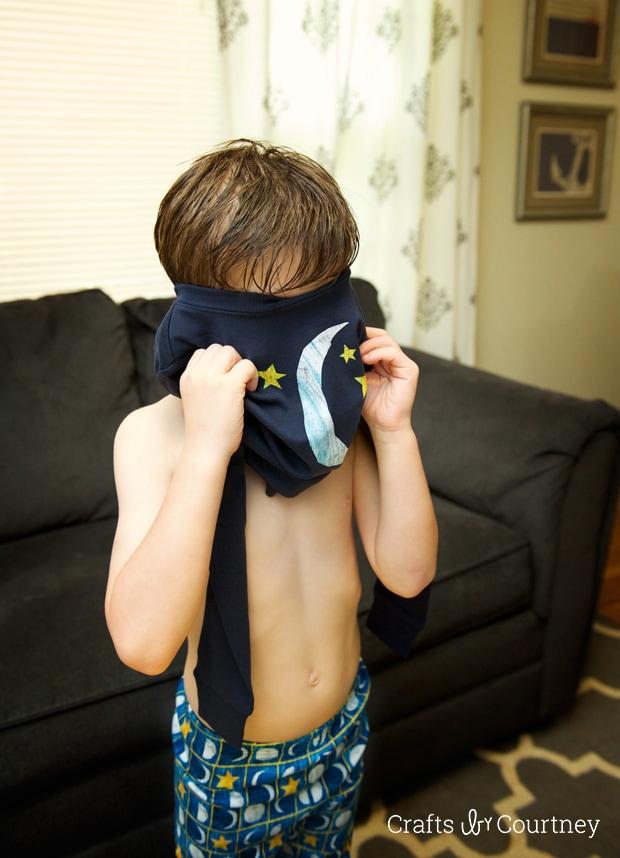 Getting dressed in our Gymboree Eric Carle sleepwear
