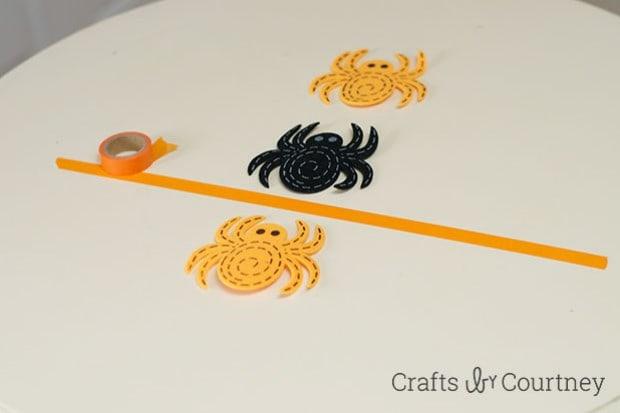 DIY Washi Tape Halloween Tic Tac Toe
