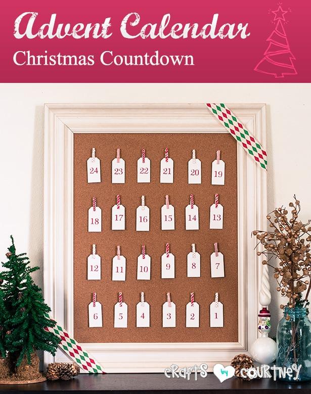 Christmas advent calendar Silhouette CAMEO® project