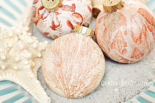 Mod Podge DIY Christmas Ornaments