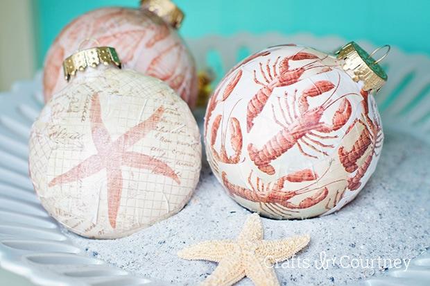 DIY Christmas ornaments made with Mod Podge - Mod Podge Rocks