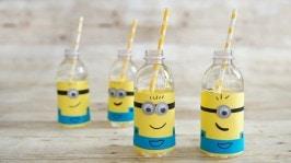 DIY Party Supplies: Despicable Me Minion Water Bottle Labels