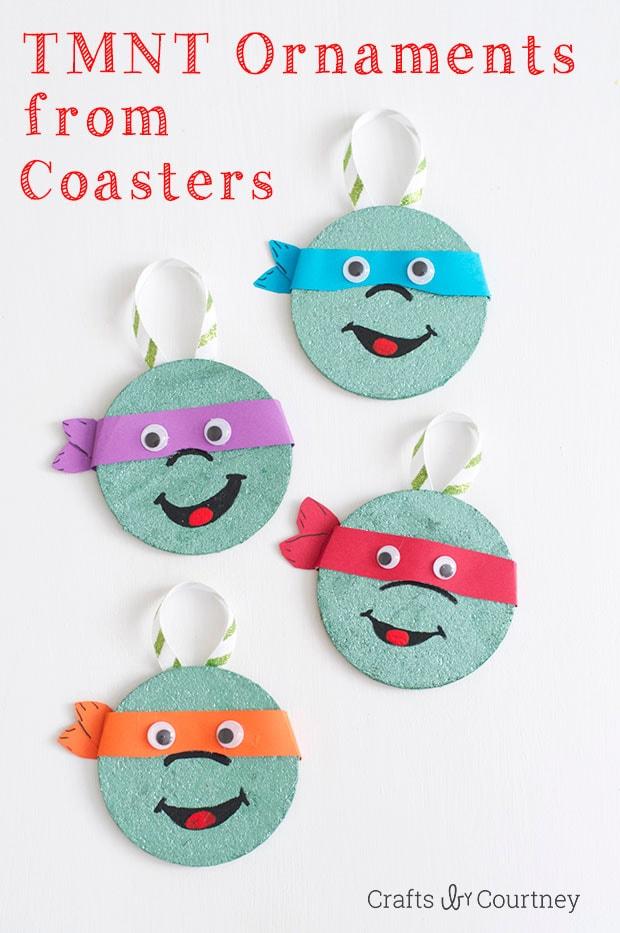 DIY Coaster TMNT Christmas Ornaments