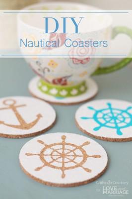 Beach Craft: Easy Nautical DIY Coasters