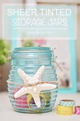 Mod Podge Sheer Color Tinted Storage Jar Craft