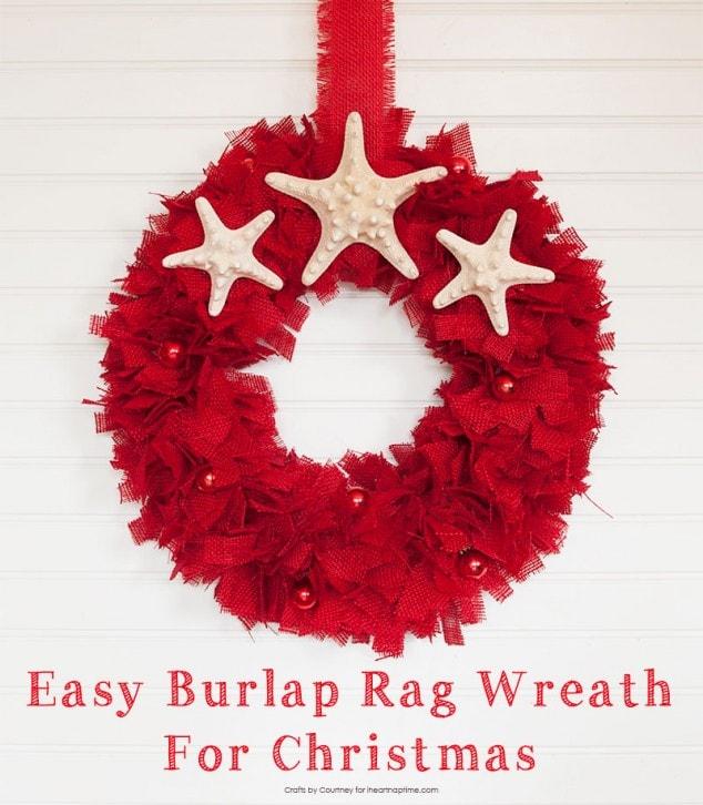 DIY Burlap Wreath for Christmas