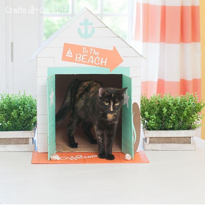 Cabana inspired Cat or Dog House - Cat Craft