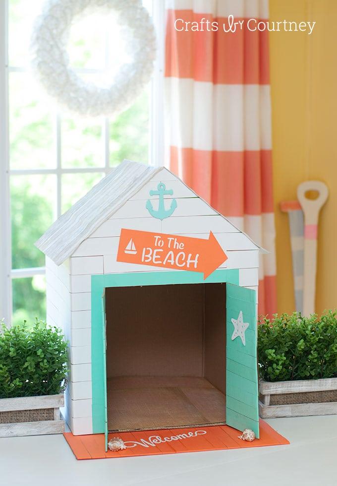 Cabana inspired Cat or Dog House
