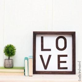Farmhouse Style Inspired DIY LOVE Sign
